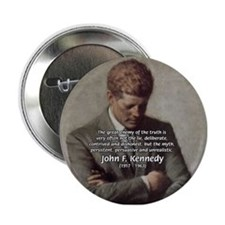 Truth Myth John F. Kennedy Button