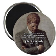 Truth Myth John F. Kennedy Magnet