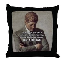 Truth Myth John F. Kennedy Throw Pillow