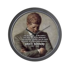 Truth Myth John F. Kennedy Wall Clock