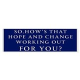 Anti Obama Bumper Car Sticker
