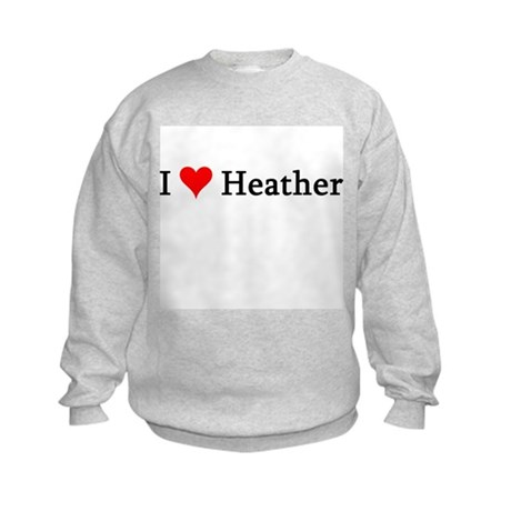I Love Heather Kids Sweatshirt