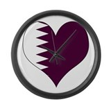 I Love Qatar Large Wall Clock