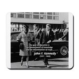 Education John F. Kennedy Mousepad