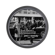 Education John F. Kennedy Wall Clock