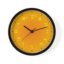 Hebrew Numeral Wall Clock (Golden Sands)