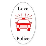 Love Police Oval Sticker