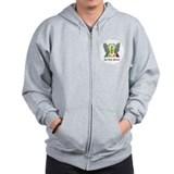 Sao Tomean Coat of Arms Seal Zip Hoodie