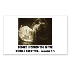BEFOREI FORMED YOU IN THE WOMB Pro-life Decal