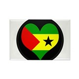 I love SAO TOME AND PRINCIPE Rectangle Magnet