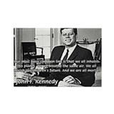 Humanist John F. Kennedy Rectangle Magnet