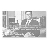 Humanist John F. Kennedy Rectangle Decal