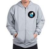 Flag Map of San Marino Zip Hoody