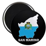 Flag Map of San Marino Magnet
