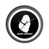 Flag Map of Saint Vincent Wall Clock