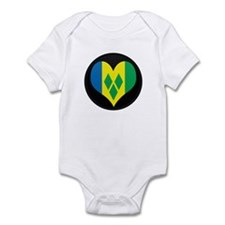 I love Saint Vincent Flag Infant Bodysuit