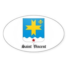 Vincentian Coat of Arms Seal Oval Decal