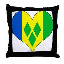 I Love Saint Vincent Throw Pillow