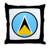 Saint Lucia Throw Pillow