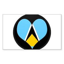 I love Saint Lucia Flag Rectangle Decal