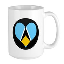 I love Saint Lucia Flag Mug