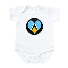 I love Saint Lucia Flag Infant Bodysuit