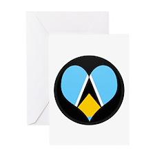 I love Saint Lucia Flag Greeting Card