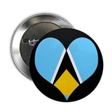 "I love Saint Lucia Flag 2.25"" Button"