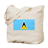 Saint Lucia Flag Tote Bag