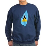 Saint Lucia Flag Map Sweatshirt