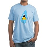 Saint Lucia Flag Map Shirt