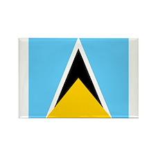Saint Lucian Rectangle Magnet (10 pack)