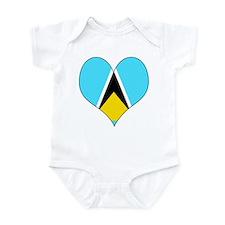 I Love Saint Lucia Infant Bodysuit