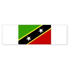 saint kitts and nevis Flag Bumper Sticker (50 pk)