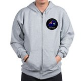 Flag Map of Saint Helena Zip Hoodie