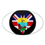 I love Saint Helena Flag Oval Decal