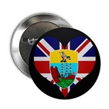 "I love Saint Helena Flag 2.25"" Button"