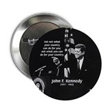 "Famous Quote from JFK 2.25"" Button (10 pack)"