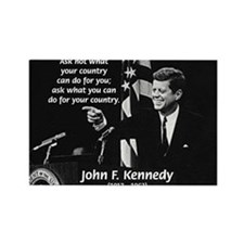 Famous Quote from JFK Rectangle Magnet