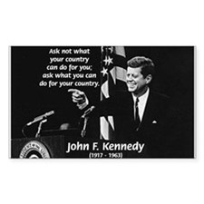 Famous Quote from JFK Rectangle Decal