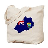 Saint Helena Flag Map Tote Bag