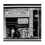 Woman Suffrage Ohio Headquarters Tile Coaster