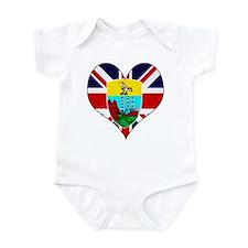 I Love Saint Helena Infant Bodysuit