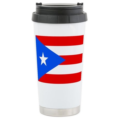 PUERTO RICO Flag Ceramic Travel Mug