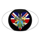 I love Pitcairn Islands Flag Oval Decal