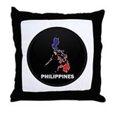 Flag Map of philippines Throw Pillow