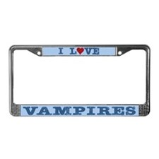 I Love Vampires License Plate Frame