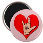 ASL I Love You Hand Sign Magnet