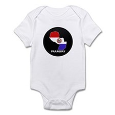 Flag Map of Paraguay Infant Bodysuit