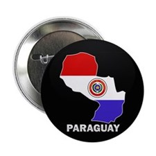 "Flag Map of Paraguay 2.25"" Button (10 pack)"